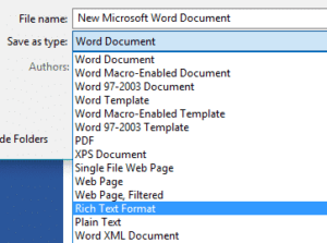import word template