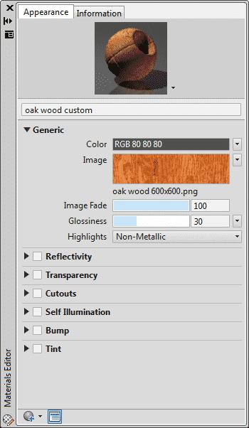 creating custom material in autocad_2