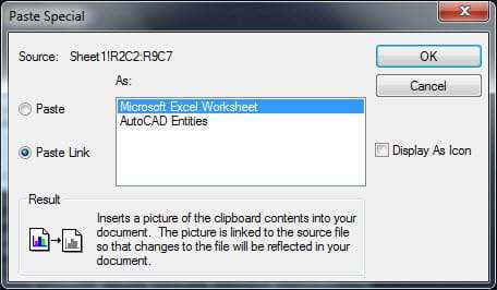 import and export a table from AutoCAD to Excel