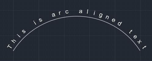 Curve text in autoCAD