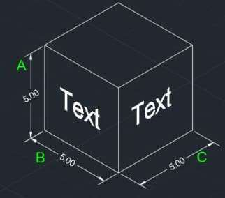 isometric dimension and text in AutoCAD