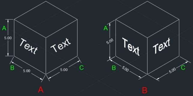 making isometric text and dimension in autocad (2)
